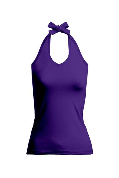 Women's V-Neckholder Top zum Binden im Nacken, Single Jersey, 95 % Baumwolle, 5 % Elasthan, 180 g/m², S–XL. Preis: 6,99€ inlc. 19% MwSt. Verfügbare Größen: S, M, L, XL Artikelnummer: 10303