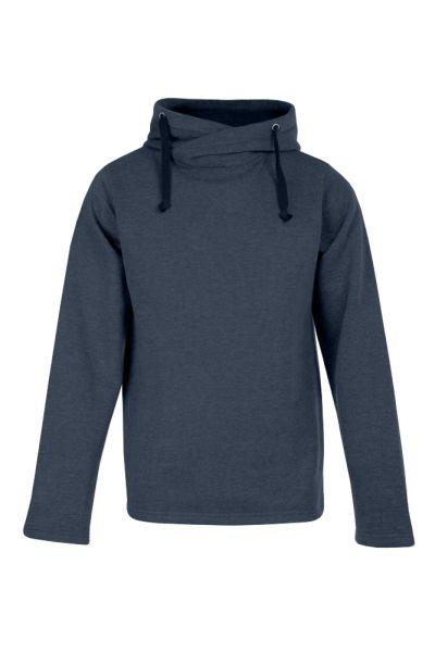 Men's Heather Hoody 60/40  Kasak Sweatshirt, hoher überkreuzter Kragen mit Doppelkapuze, Molton brushed, neutrales Grössenetikett seitlich im Nacken, 60 % Baumwolle, 40 % Polyester, 250 g/m², S–XXL. Preis: 18,99€ incl.19% MwSt.   Verfügbare Größen: S, M, L, XL, XXL Artikelnummer: 10414