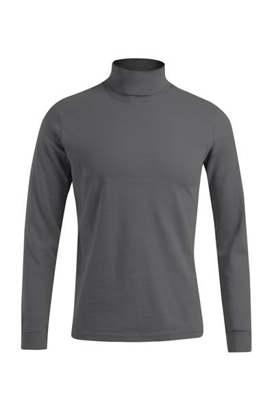 Men's Turtleneck-T LS  Langarm Rollkragen T-Shirt, Interlock, 100 % Baumwolle, 220 g/m², XS–XXXL. Farben light brown, hunting green in den Grössen S-XL.  Preis: 15,99€ incl.19% MwSt.  Verfügbare Größen: XS, S, M, L, XL, XXL, XXXL  Artikelnummer: 10406