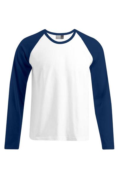 Men's Baseball-T LS  Langarm Raglan T-Shirt, Heavy Jersey, 100 % Baumwolle, 205 g/m², M–XXL.  Preis: 12,99€ incl.19% MwSt.  Verfügbare Größen: M, L, XL, XXL  Artikelnummer: 10407