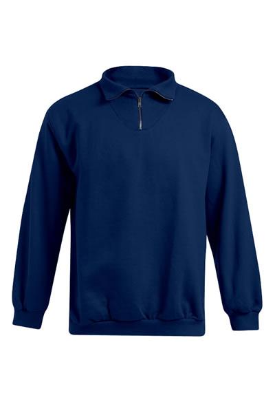 Men's Troyer Sweater  ,Sweatshirt, Reißverschluss am Kragen, Elasthanbündchen an Arm und Saum, Molton brushed, 100 % Baumwolle, 320 g/m², S–XXXL. Preis: 27,97€ incl.19% MwSt.   Verfügbare Größen: S, M, L, XL, XXL, XXXL  Artikelnummer: 10416