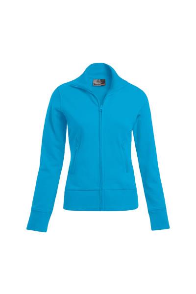 Women's Jacket Stand-Up Collar  , Stehkragen, durchgehender und verdeckter Reißverschluss, 2 Seitentaschen mit Reißverschluss auf der Vorderseite, Elasthanbündchen an Arm und Saum, leicht tailliert, Molton brushed, 100 % Baumwolle, 320 g/m², XS–XXXL. Preis: 25,99€ inlc. 19% MwSt.  Verfügbare Größen: XS, S, M, L, XL, XXL, XXXL Artikelnummer: 10313