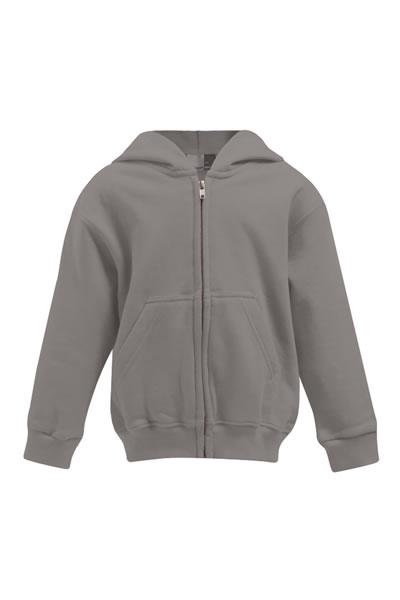 Kid's Hoody Jacket  Jacke, durchgehender und verdeckter Reißverschluss, Kängurutaschen, Elasthanbündchen an Arm und Saum, Molton brushed, 100 % Baumwolle, 320 g/m², 104–164. Preis: 23,90€ incl.19% MwSt.   Verfügbare Größen: 104, 116, 128, 140, 152, 164  Artikelnummer: 10515